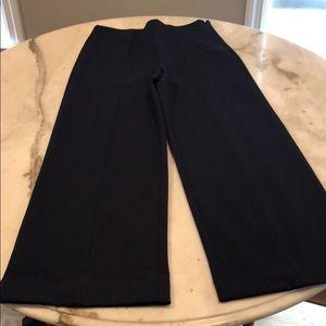 J.Crew wide leg navy pants in size 0